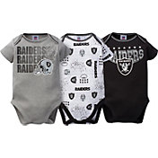 Gerber Infant Oakland Raiders 3-Piece Onesie Set