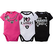 Gerber Infant Girl's Oakland Raiders 3-Piece Onesie Set