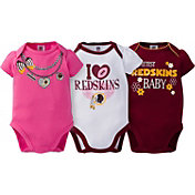 Gerber Infant Girl's Washington Redskins 3-Piece Onesie Set