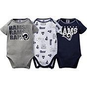 Gerber Infant Los Angeles Rams 3-Piece Onesie Set