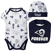 Gerber Infant Los Angeles Rams Cap/Bib Onesie Set