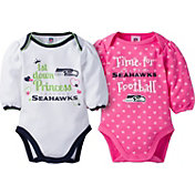 Gerber Infant Girl's Seattle Seahawks 2-Piece Long Sleeve Onesie Set