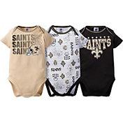 Gerber Infant New Orleans Saints 3-Piece Onesie Set