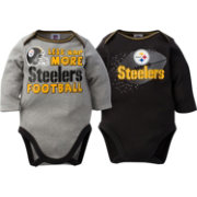 Gerber Infant Pittsburgh Steelers 2-Piece Long Sleeve Onesie Set