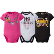 Gerber Infant Girl's Pittsburgh Steelers 3-Piece Onesie Set