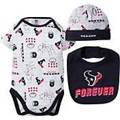 Gerber Infant Houston Texans Cap/Bib Onesie Set