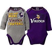 Gerber Infant Minnesota Vikings 2-Piece Long Sleeve Onesie Set