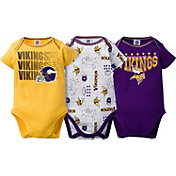 Gerber Infant Minnesota Vikings 3-Piece Onesie Set