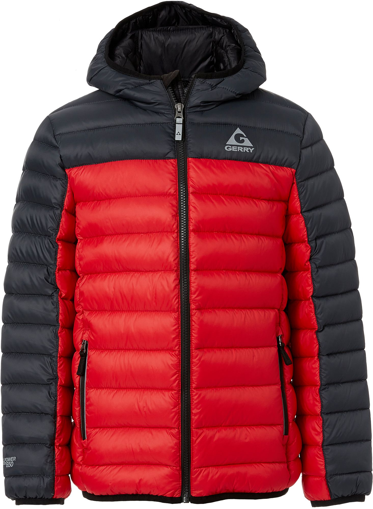 Packable down ski jacket