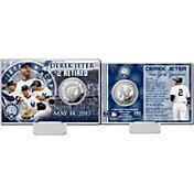 Highland Mint New York Yankees Derek Jeter Jersey Retirement Silver Coin Card