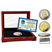 Highland Mint 2017 NBA Finals Champions Golden State Warriors Two-Tone Mint Coin