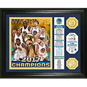 Highland Mint 2017 NBA Finals Champions Golden State Warriors 'Banner' Panoramic Bronze Coin Photo Mint