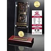 Highland Mint 2017 National Champions Alabama Crimson Tide Ticket & Bronze Coin Acrylic Desktop Display