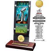 Highland Mint Super Bowl LI Champions New England Patriots Ticket and Bronze Coin Desktop Display