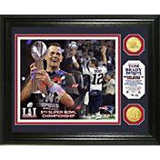 Highland Mint Super Bowl LI Champions New England Patriots Tom Brady Trophy Bronze Coin Photo Mint