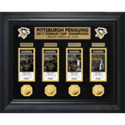 Highland Mint 2017 Stanley Cup Champions Pittsburgh Penguins Deluxe Gold Coin and Ticket Collection