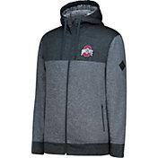 J. America Men's Ohio State Buckeyes Cloud Full-Zip Gray Fleece Jacket