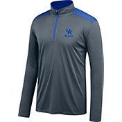 J. America Men's Kentucky Wildcats Grey/Blue Get Up Quarter-Zip Top