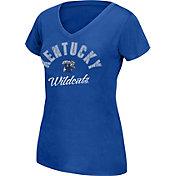J. America Women's Kentucky Wildcats Blue Grand Slam V-Neck Tee