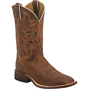 Justin Men's Distressed Cognac Bent Rail Western Boots