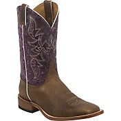 Justin Men's Hazel Brown Bent Rail Western Boots