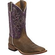 Justin Men's Hazel Brown Bent Rail Western Boots