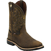 Justin Men's George Strait Weathered Bark Western Boots