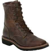 Justin Men's Rugged Tan Stampede Steel Toe Work Boots
