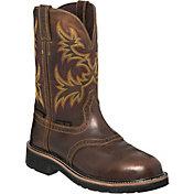 Justin Men's Rugged Tan Stampede Waterproof Steel Toe Work Boots
