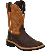 Justin Men's Stampede Square Toe Work Boots