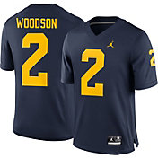 Jordan Men's Charles Woodson Michigan Wolverines #2 Blue Replica College Alumni Jersey