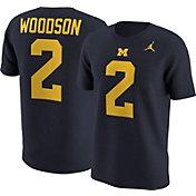 Jordan Men's Michigan Wolverines Charles Woodson #2 Blue College Alumni T-Shirt
