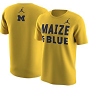 Jordan Men's Michigan Wolverines Maize 'Maize & Blue' T-Shirt