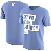 Jordan Men's North Carolina Tar Heels 'Ceiling. Roof. Champion.' National Champions Celebration T-Shirt