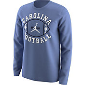Jordan Men's North Carolina Tar Heels Carolina Blue 'Carolina Football' Long Sleeve T-Shirt