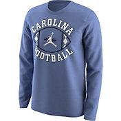 Jordan Men's North Carolina Tar Heels Carolina Blue 'Carolina Football' Long Sleeve T-Shirt