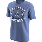 Jordan Men's North Carolina Tar Heels Carolina Blue 'Carolina Football' T-Shirt