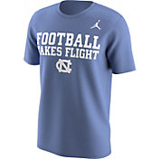 Jordan Men's North Carolina Tar Heels Carolina Blue 'Football Takes Flight' Football Mantra T-Shirt