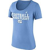 Jordan Women's North Carolina Tar Heels Carolina Blue 'Football Takes Flight' Football Mantra T-Shirt
