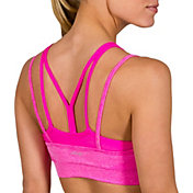 Jockey Women's Double Layer Zip Front Seam Free Sports Bra