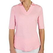 Jofit Women's Scallop 1/2-Sleeve Golf Polo