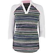 Jofit Women's Victory Collar 3/4 Raglan Golf Polo