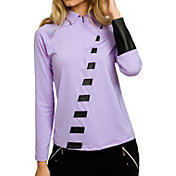 Jamie Sadock Women's Violetta Long Sleeve Golf Polo