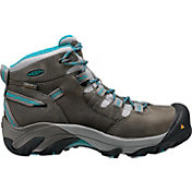 KEEN Women's Detroit Mid Steel Toe Waterproof Work Boots