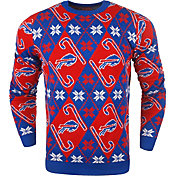 KLEW Men's Buffalo Bills Candy Cane Ugly Sweater