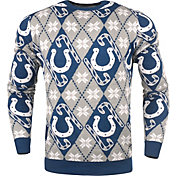 KLEW Men's Indianapolis Colts Candy Cane Ugly Sweater