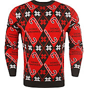 KLEW Men's Chicago Blackhawks Candy Cane Ugly Sweater