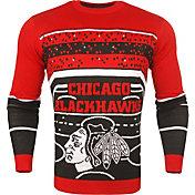 KLEW Men's Chicago Blackhawks Light Up Ugly Sweater