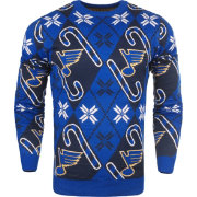 FOCO Men's St. Louis Blues Candy Cane Ugly Sweater