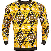 KLEW Men's Boston Bruins Candy Cane Ugly Sweater
